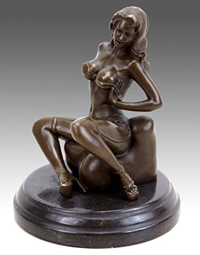 Kunst & Ambiente - Erotik Akt - Sexy Carmen in Strapsen - Patoue - Erotik Wiener Bronze Akt -...