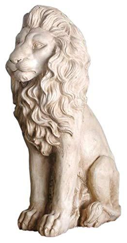 YANRUI Lion Statue, Garten Männlicher Löwe Skulptur Garten Tier Modell Outdoor Creative Collection...