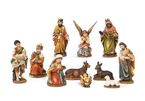 Paben–Komplette Figurensammlung für die Weihnachtskrippe, Größe Figuren: 7cm, 11Motive...