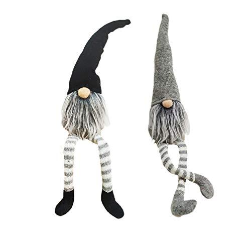 Toyvian 2 Stücke Plüsch Wichtel Figuren GNOME mit Langen Beinen Weihnachtswichteln Weihnachten...