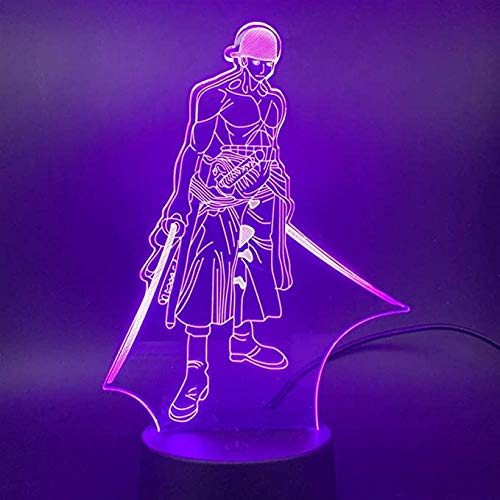 Anime 3D Illusion Nachtlicht LED Illusion Lamp, Haikyuu ToRU OIKAWA Figur LED Nachtlicht Haikyuu LED...