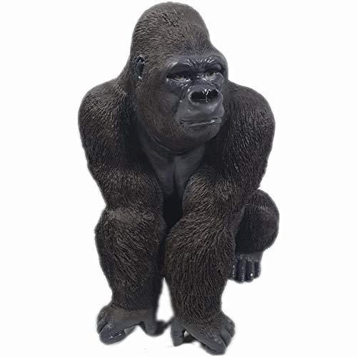 Aspinaworld Gorilla Figur sitzt auf der lauer, 56 cm, schwarz, wetterfeste Gartenfigur aus...