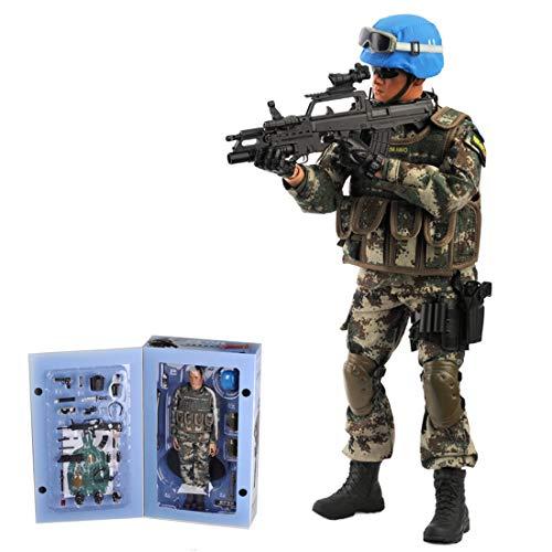 HYZM Soldat Action Figuren 1/6, 30CM Actionfigur Modell Beweglich Soldat der Friedenstruppe Figuren...
