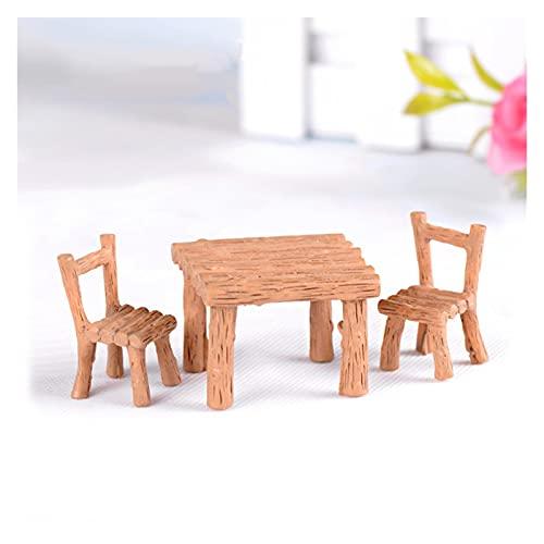 Yyoutop 1Set Mini Stuhl Wohnkultur Miniaturen Fee Garten Ornamente Figuren Spielzeug DIY Aquarium...