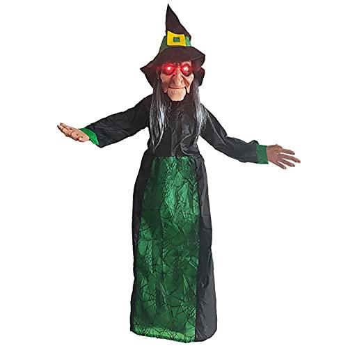 KYZRUIER Halloween Deko Figuren Halloween Deko Garten Gruselig Halloween Hexe Garten Dekoration...