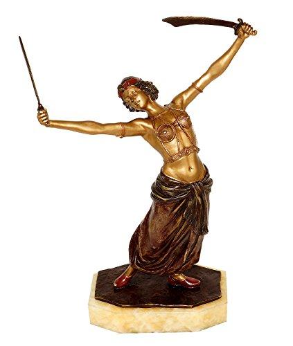 Kunst & Ambiente - Wiener Bronze - Erotische Schwert Tänzerin/Orientale - Erotik Figur - Frauen Akt...