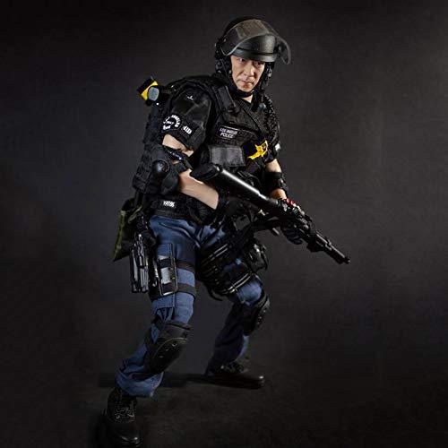 MXUS 1/6 LAPD SWAT Actionfiguren Militärsoldat Spielzeugstatuenmodell Sammlung PVC...