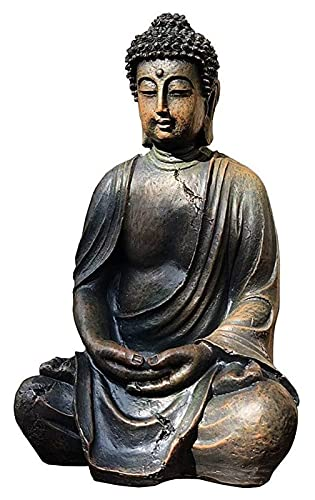 YANRUI Zen sitzende Buddha Statue Harz Skulptur Meditation Buddha Statue Kunst Ornamente Outdoor...