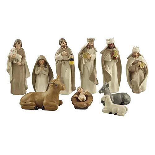 CHENSTAR Traditionelle Weihnachtskrippe für den Schreibtisch, Fenster, Dekoration, Heilige Familie,...