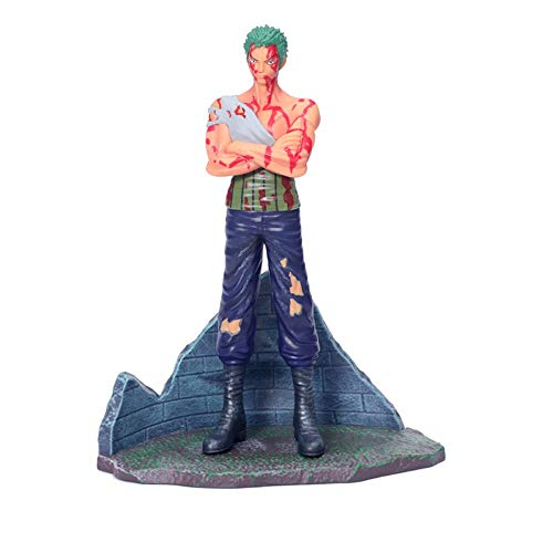 QTRT ONE Piece Verwundeten und Blut Roronoa Zoro PVC Anime Cartoon Game Character Modell Statue...