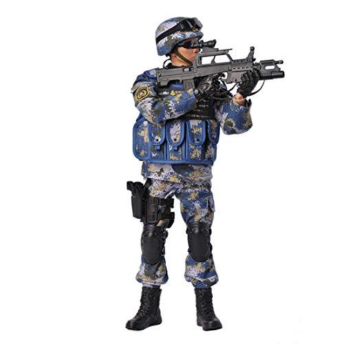 HYZM Soldat Action Figuren 1/6, 30CM Actionfigur Modell Beweglich Marinesoldat Figuren Militär...