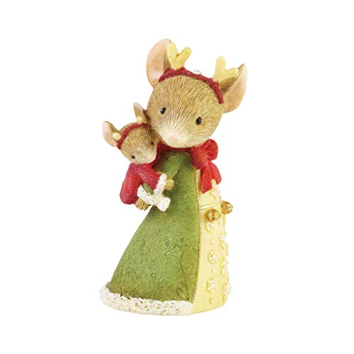 Enesco Tails with Heart Christmas Reindeer Love Mama and Baby Mouse Figur, Kunstharz, Mehrfarbig,...