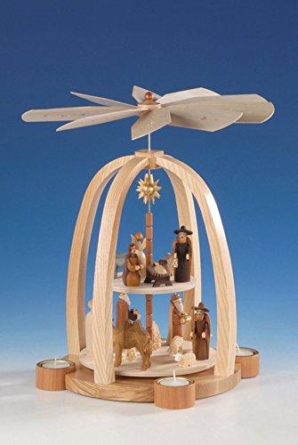 Tischpyramide Pyramide Christi Geburt Höhe 41 cm NEU Tischdekoration Dekoration Weihnachten...