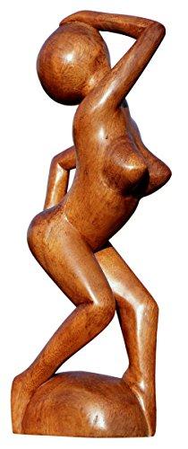 Unbekannt Schöne abstrakte Holz Figur Sexy Lady Erotik Deko Handarbeit Bali A30.16