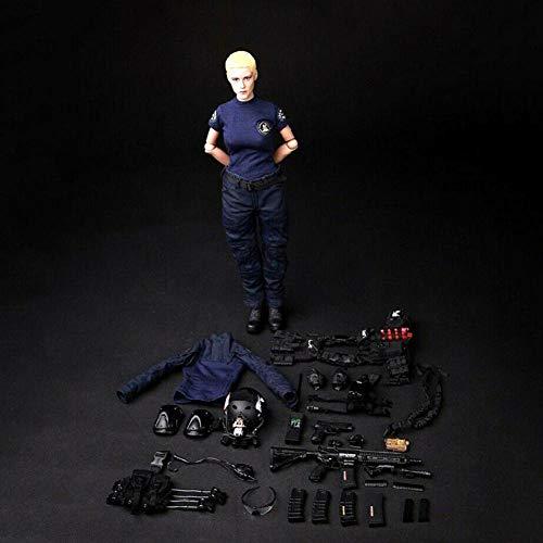 Delili 1/6 Maßstab Aktion Figur Soldatin Modell Soldat Model Set Weibliche swat 12 Zoll Puppe Zum...