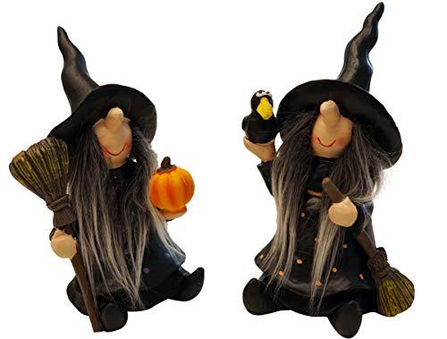 khevga Herbst Dekoration Halloween Deko Hexe gruselig im 2er Set