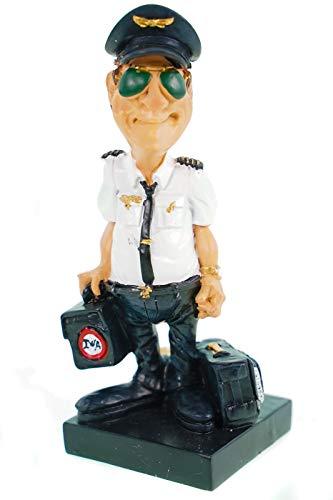 Funny Life - Pilot mit Sonnenbrille und Koffern