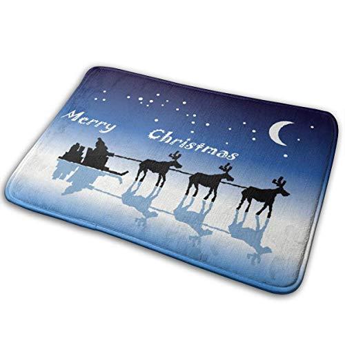 Amanda Walter Weihnachtskrippe Weihnachtsmann gleitet auf Eiswurfbereich Bodenmatte Akzent...