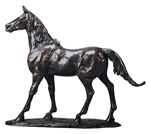 YANRUI Dekorative Pferdestatue, Pferd Skulptur Simulation Tierverzierung Pferd Bronze Handwerk...