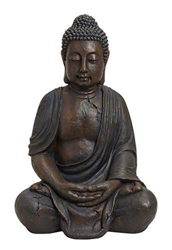 Worldconnection XXXL Großer Buddha 70 cm Garten Deko Figur Skulptur Feng Shui
