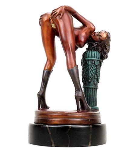 Kunst & Ambiente - Erotik Girl Lola in High Heels - signiert J. Patoue - Erotikfigur - Frauenakt -...