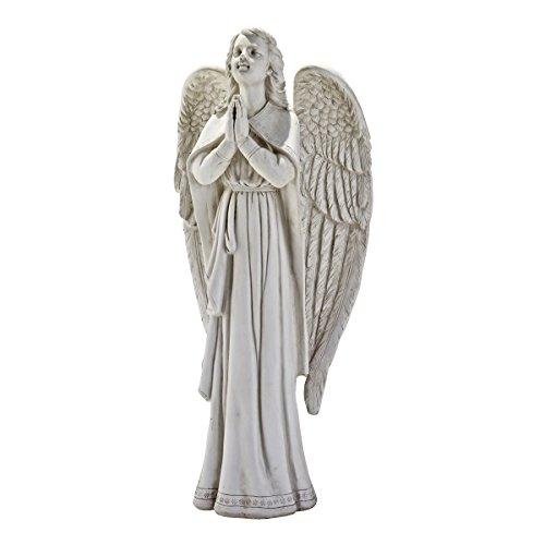 Design Toscano Göttliche Führung: Betender Engel, Gartenfigur, 25,5 x 38 x 84 cm