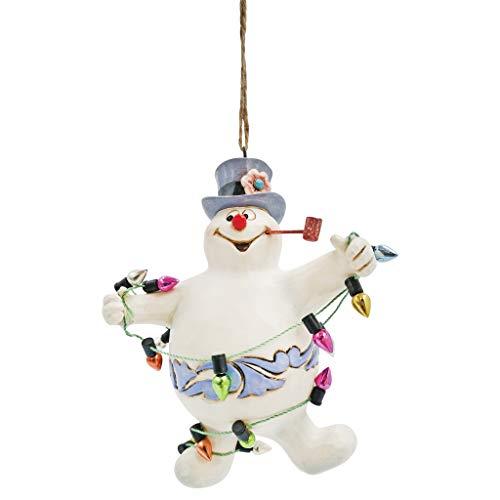 Enesco Jim Shore Frosty The Snowman Tangled in Lights Hängeornament, 10,4 cm, Mehrfarbig