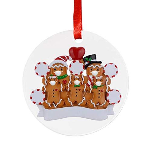 chora Weihnachtsbaum-Schmuck - Rentier Christbaum-Anhänger - Personalisierte 2020 Familie von...