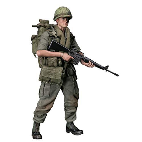 Mecotecn 1/12 Soldat Figur, 15cm US Soldat Actionfigur Modell Spielzeug Figuren Militär Soldat...