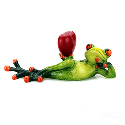 Chinese Arts&Culture 3D-Frosch-Figur aus Kunstharz, Grün, Polyresin, Love Lady, 1 Packung