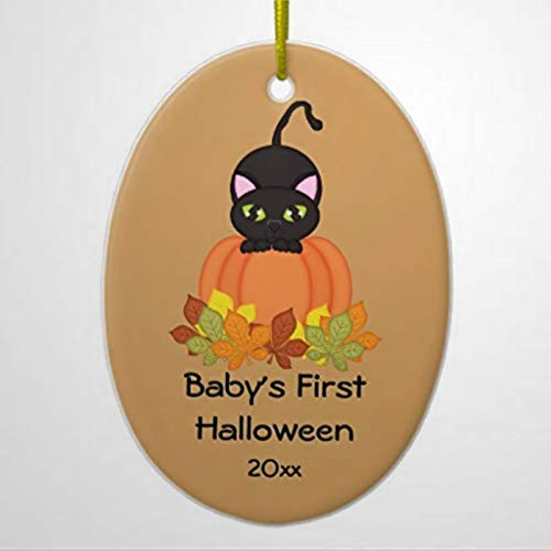 BYRON HOYLE Schwarze Katze für Babys als Halloween-Figur, Keramik, Neuheit für Kinder für Frauen...