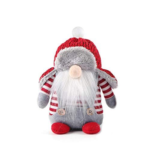 Weihnachten Tomte Nisse Figur, Süße Weihnachtsfigur Dwarf Santa Dolls Tsgesichtslose...