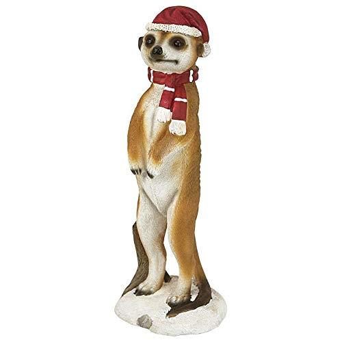 Weihnachtsschmuck - Frohe Meerkat Ferien Porch Greeter Meerkat Statue
