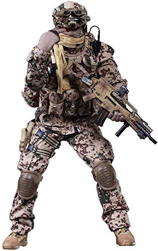 ZSMD 30cm Soldat Action Figuren, KSK Soldat Modell Militär mit Zubehör für 1/6 Soldat Actionfigur...