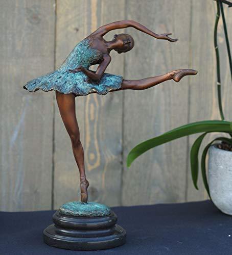 H. Packmor GmbH Bronzeskulptur große Tänzerin Ballerina - Dekoration für Haus und Garten -...