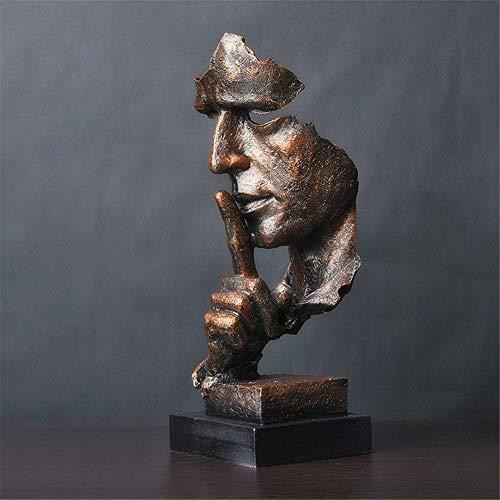 LWZY Stille ist eine goldene Statue der kreativen,Einfache Moderne Handwerk Ornamente, Kunstskulptur...