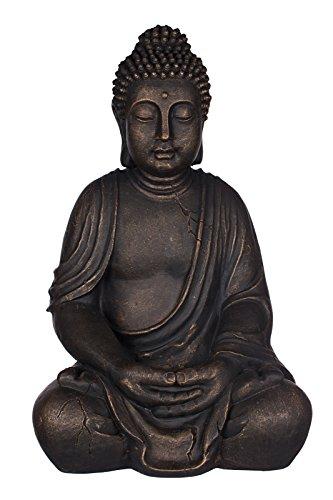Buddha SWK 33013-A Bronze , für Innen und Außen, Buddha Figur 53 cm hoch , Buddha Statue groß,...