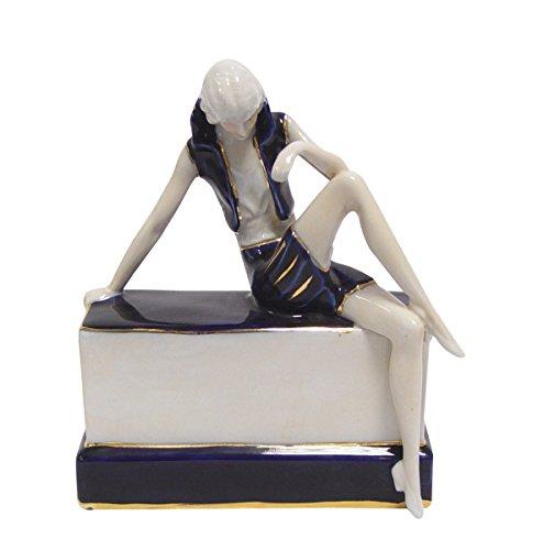 aubaho Skulptur Porzellan Kunst Figur Mann Figur Antik-Stil 17cm