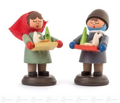 Weihnachtliche Miniatur Striezelkinder klein (2) Höhe ca 4,5 cm NEU Erzgebirge Weihnachtsfigur...