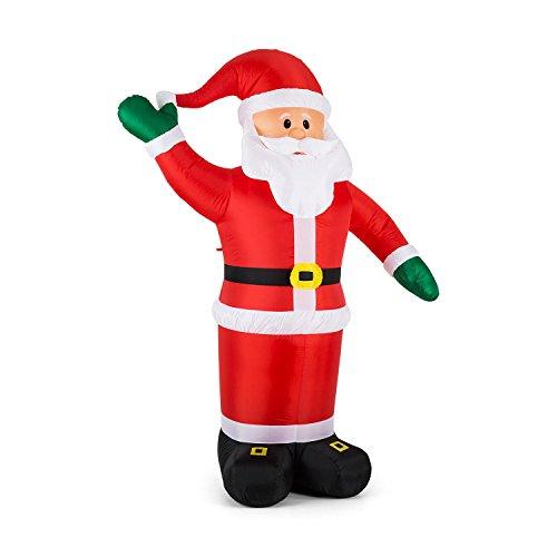 OneConcept Mr. Klaus - Weihnachtsdekoration, aufblasbarer Weihnachtsmann, Weihnachtsdeko, 240 cm...