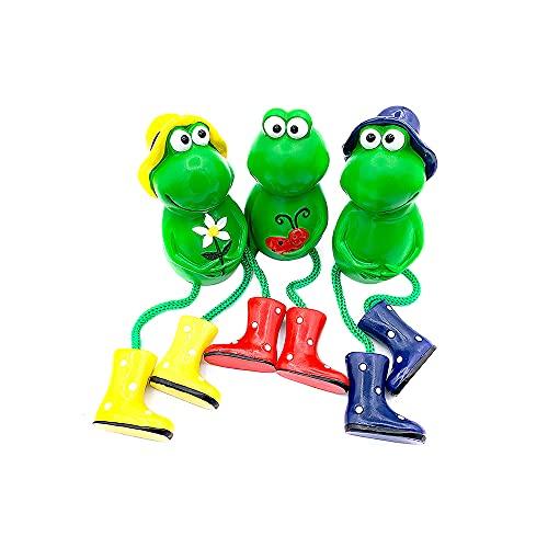 Frosch-Figuren, 3 Stück, Kunstharz, Frosch-Figuren, Gartenarbeit, sitzend, Frosch, Statue,...