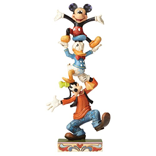 Disney Tradition 4055412 Figur Teetering Tower, Goofy, Donald Duck & Mickey Mouse, Harz, mehrfarbig,...