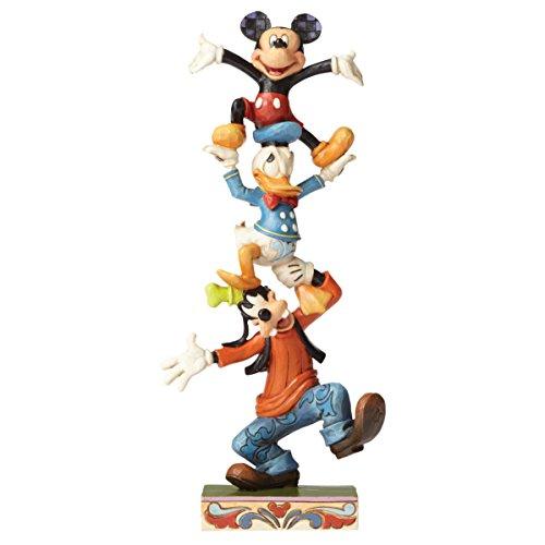 Disney Tradition 4055412 Figur Teetering Tower, Goofy, Donald Duck & Mickey Mouse, Harz, mehrfarbig,...