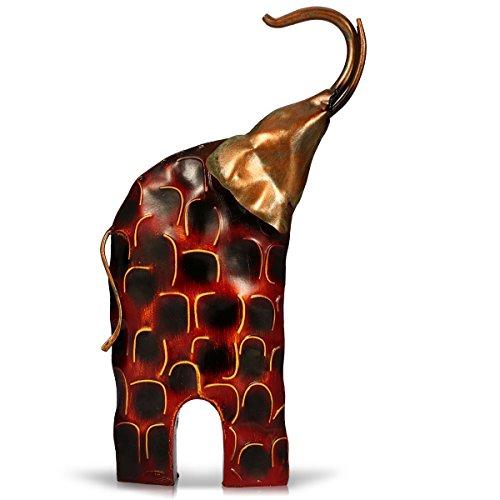 Tooarts Elefant Deko Skulptur Dekofigur aus Metall zum Dekorieren