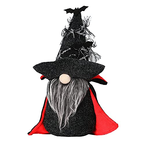 MRULIC Halloween Deko Wichtel Zwerg PlüSch Dolls Puppen Figur Festliche Geschenke Tischdekoration...