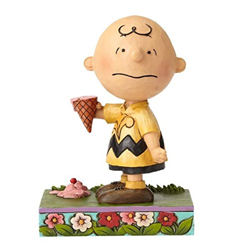 Jim Shore Heartwood Creek 4055657 Peanuts by Jim Shore Charlie Brown with Ice Cream Figurine, Resin,...