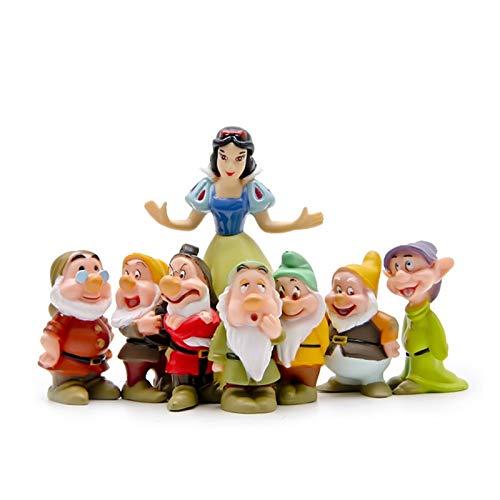 TYUIOO Weihnachten Kinder Geschenk Niedliche 7 Zwerge Prinzessin Home Decoration Miniatur Kinder...