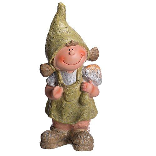 Sarah B schöne Wichtel Figur Mädchen NF87121 48 cm hoch,von Hand bemalt, Gartenfigur, Deko,...