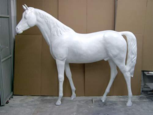 XXL Pferd lebensgross Rohling Weiss grundiert Premium Gartendeko lebensecht ca.220cm Garten Deko...