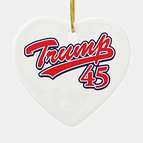 Trump 45 Christbaum-Anhänger, Keramik, für Familie und Freunde